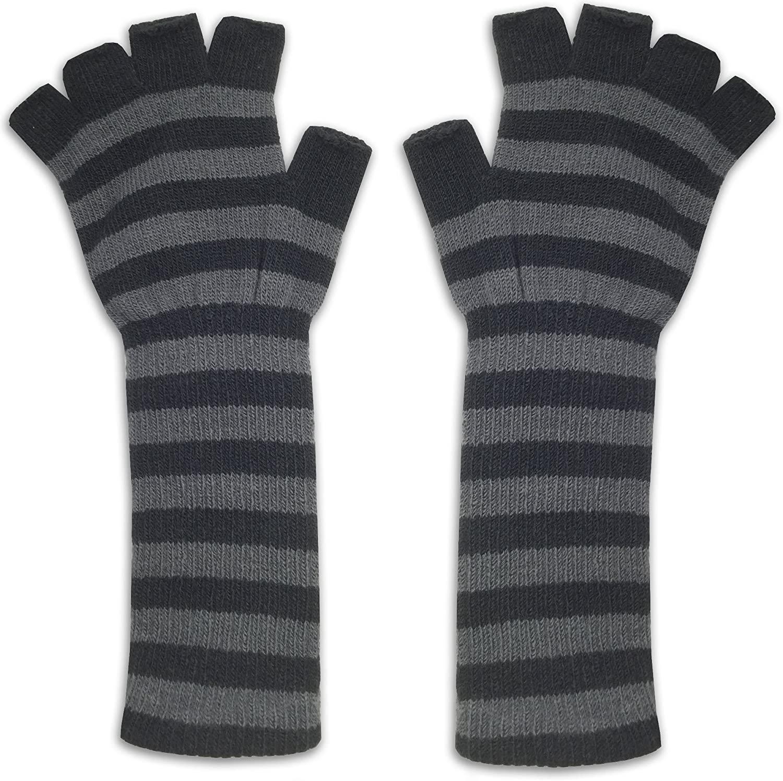 Women's Fingerless Knitted Gloves - Ladies Adult One Size - Hand Wrist Warmer