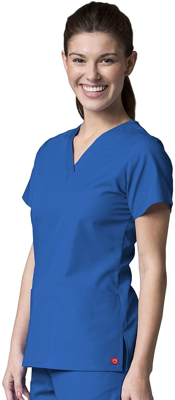 Maevn 1716 V-Neck Two Pocket Top Royal Blue XL