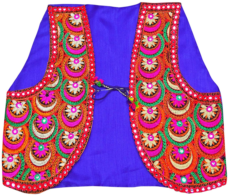 Peegli Blue Indian Women Banjara Jacket Kutch Embroidered Ethnic Party Wear Koti