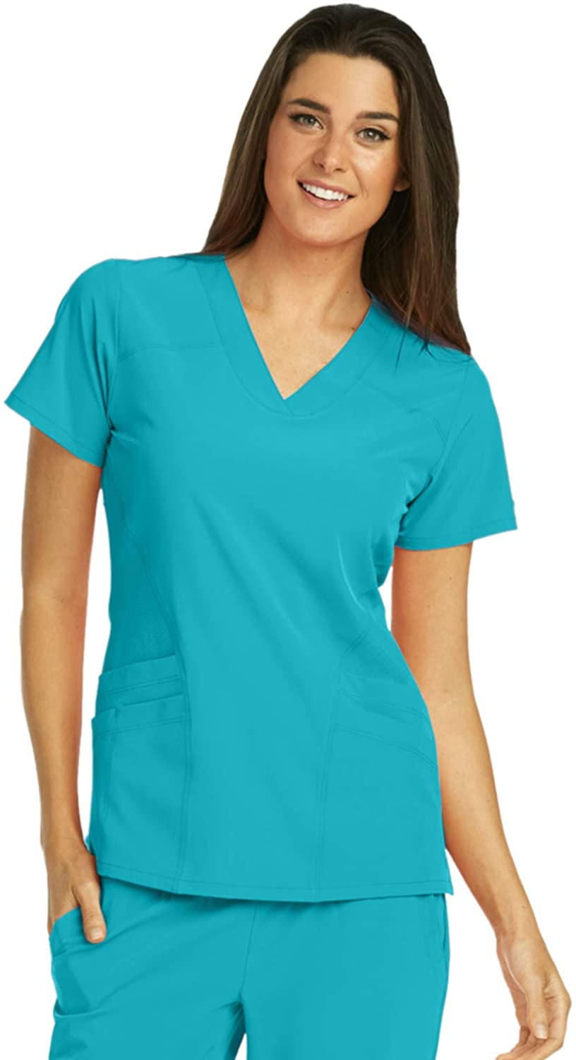 BARCO One 5106 Women's V-Neck Scrub Top Teal L