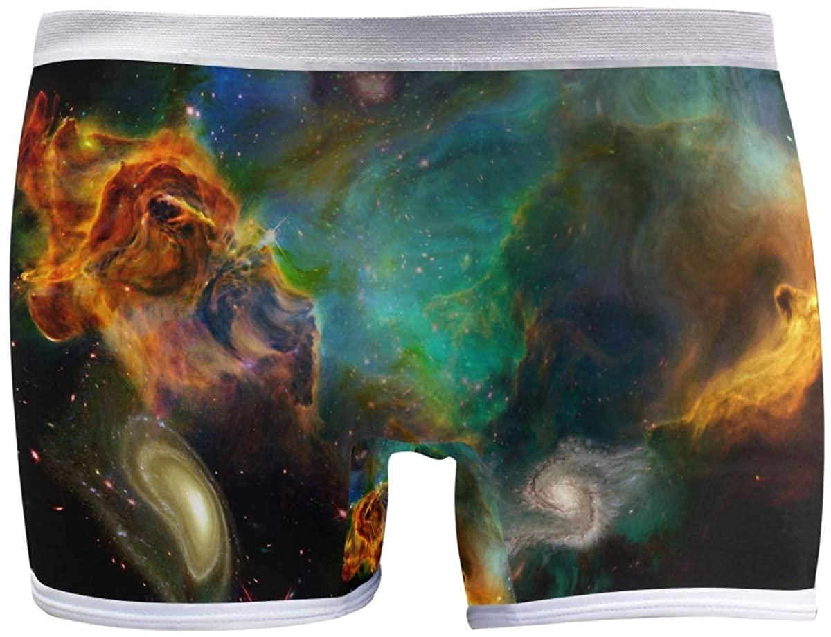 SLHFPX Womens Underwear Boy Shorts Panties Marvellous Deep Space Nebula Galaxy Ladies Seamless Boyshort Panties