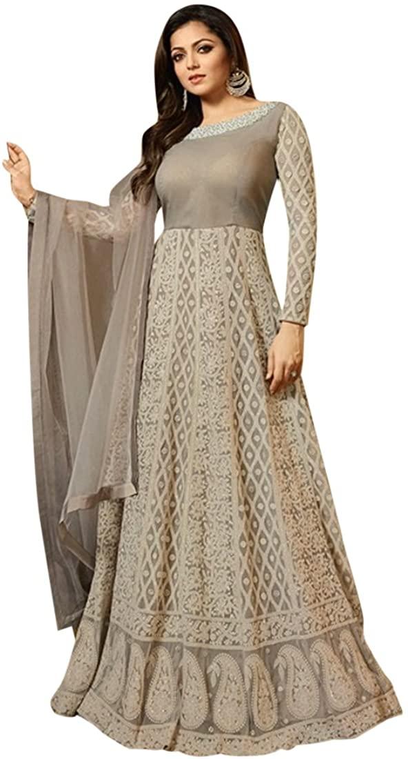 Bollywood Long Bridal Anarkali Salwar kameez Gown Dress Suit Muslim Wedding Custom to Measure Eid 2544