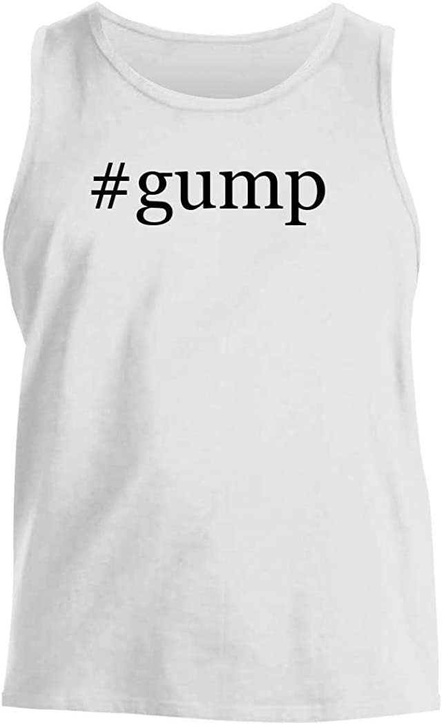 #gump - Men's Hashtag Comfortable Tank Top, White, Large
