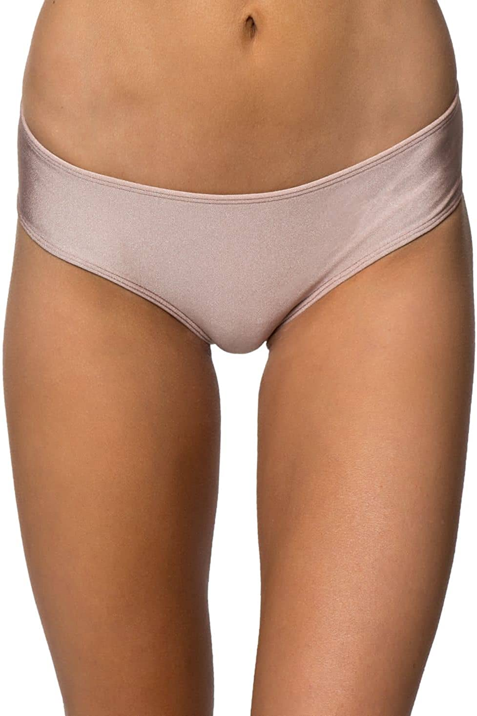 O'NEILL Cozmo Shiny Cheeky Hipster Bikini Bottoms Rose Pink Large