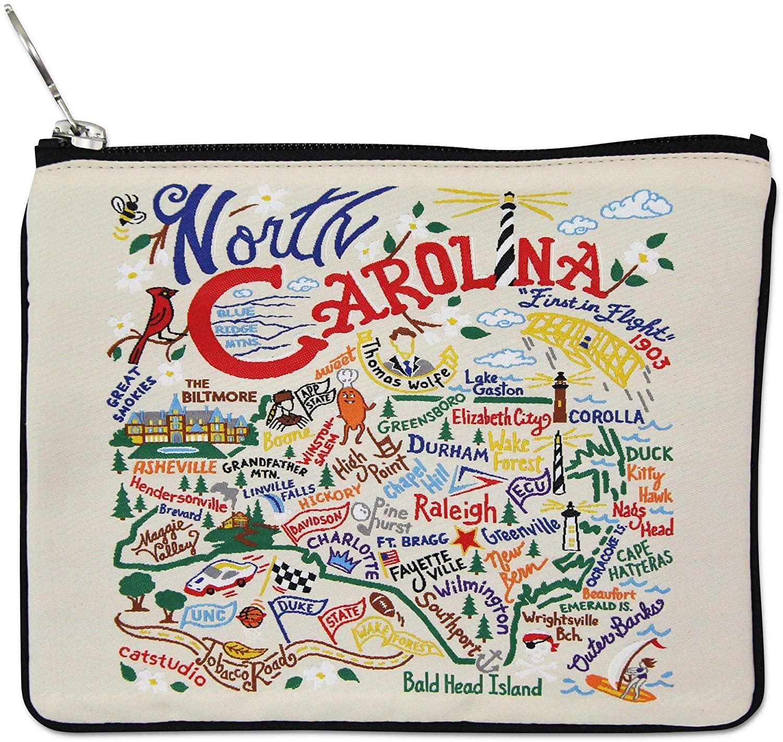Catstudio North Carolina Zipper Pouch Purse | Holds Your Phone, Coins, Pencils, Makeup, Dog Treats, Tech Tools