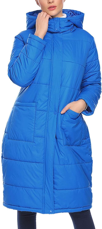 Zeagoo Women Long Thickened Down Hooded Jacket Winter Warm Parka Coat Outwear Overcoat