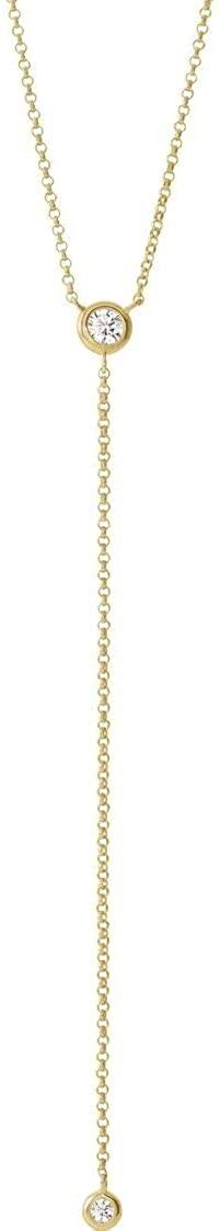 Bonyak Jewelry 14k Yellow Gold 1/5 CTW Diamond Y 15-17