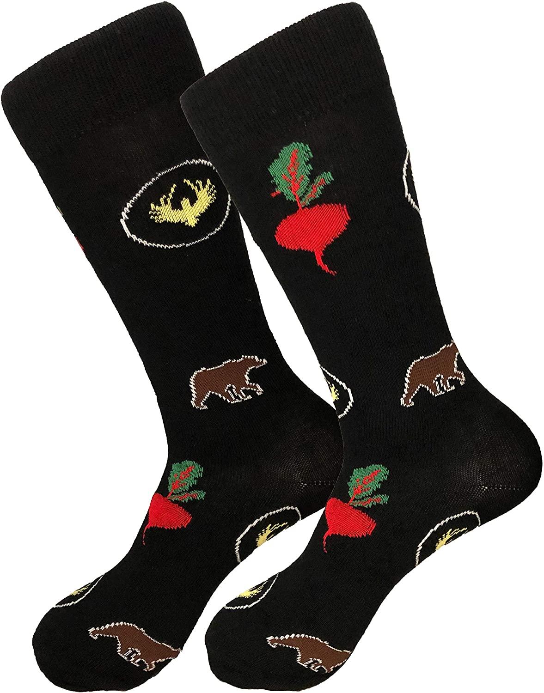 Balanced Co. Bears Beets Dress Socks Dwight Schrute Funny Socks Crazy Socks Casual Cotton Crew Socks