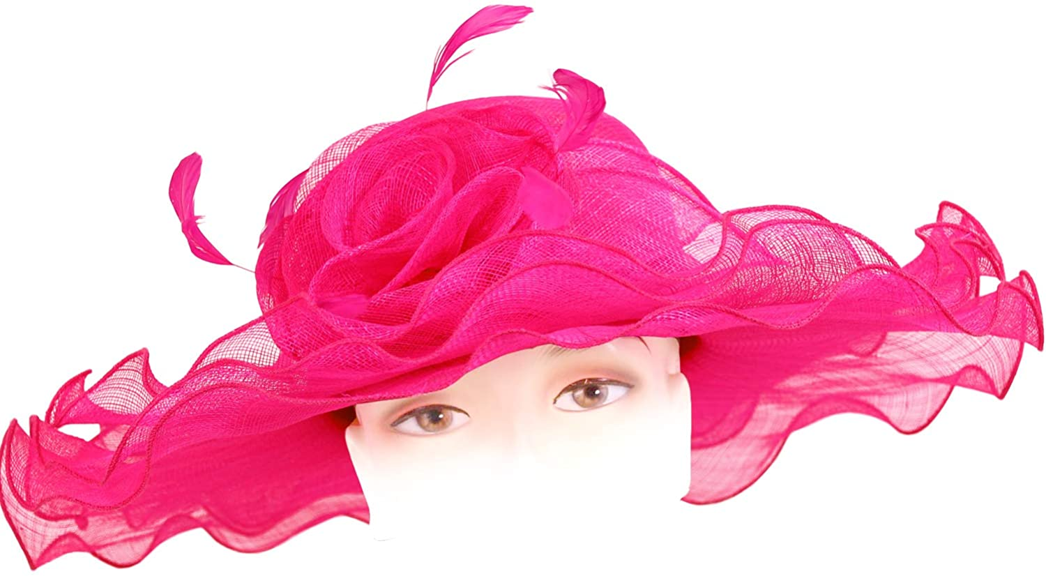 Ms. Divine Collections Women's Sinamay Derby Church Hats - HL102