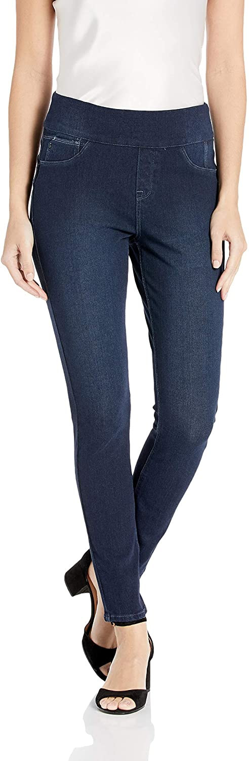 Laurie Felt Women's Cambré Denim Ankle Skinny Pull-on Jeans