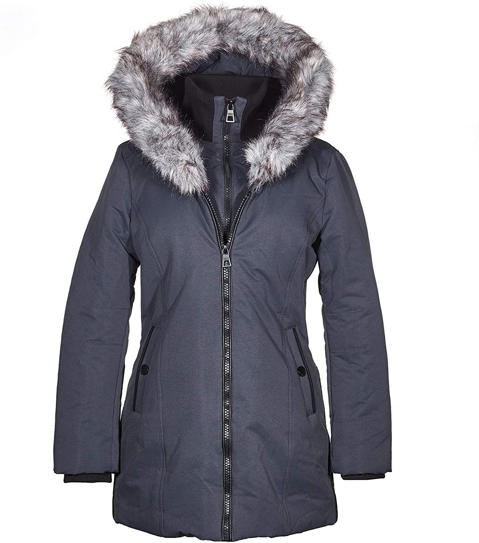 POINT ZERO Double Zip Closure Winter Coat for Women