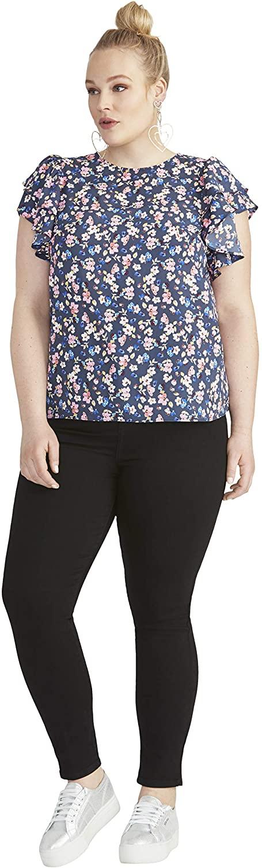 RACHEL Rachel Roy Women's Plus Size Ruffle Sleeve Top