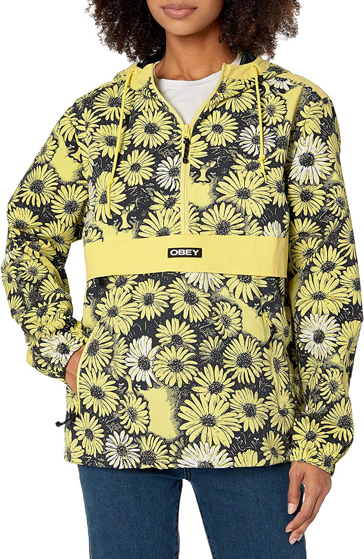 Obey Women's Daisy Anorak, Yellow Multi, Large
