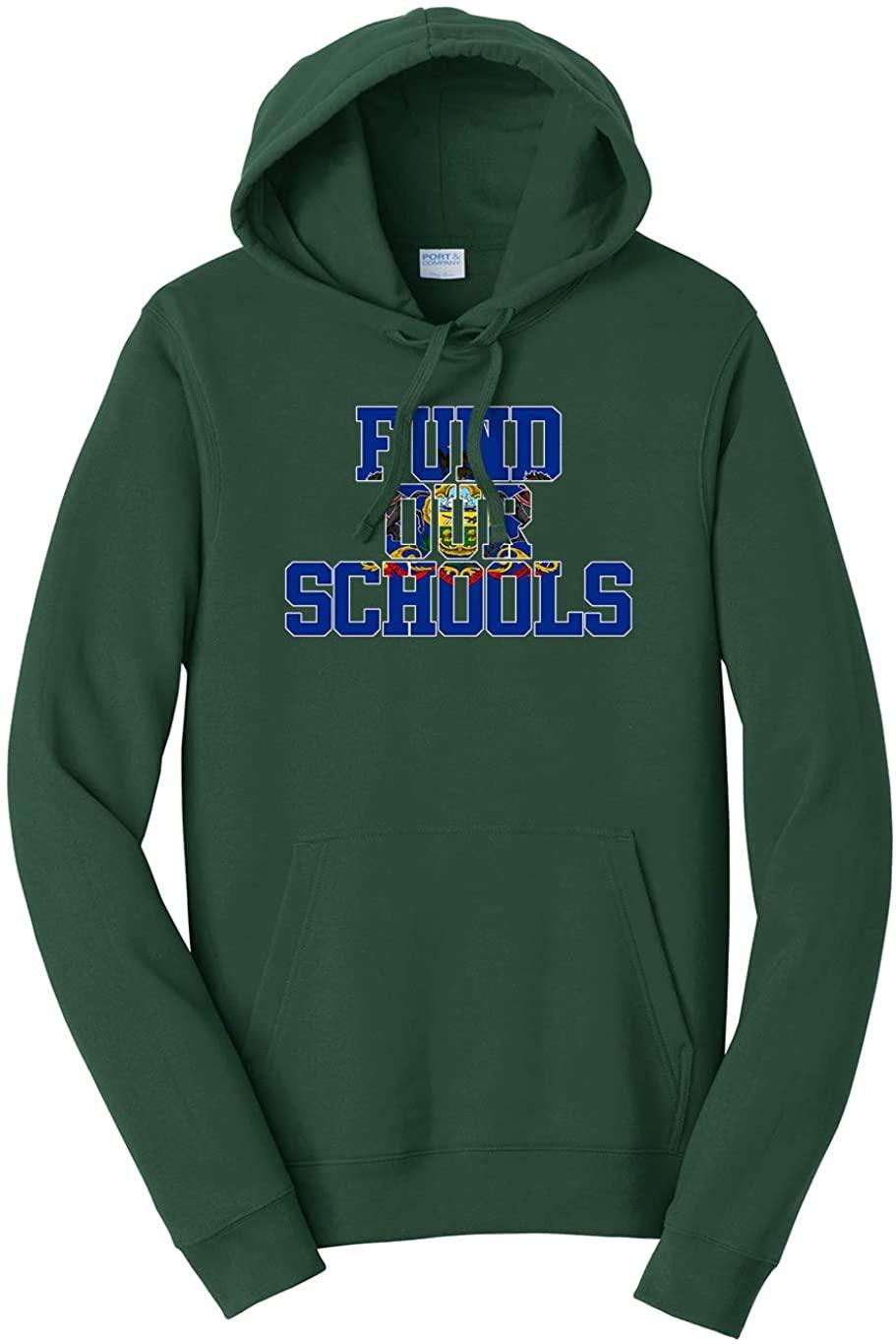 Tenacitee Unisex Fund Our Pennsylvania Schools Hooded Sweatshirt
