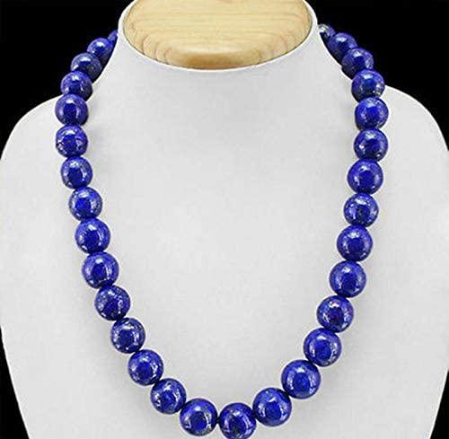 Beading Fashion 12mm Blue Lapis Lazuli Round Beads Necklace 18'' AAA++