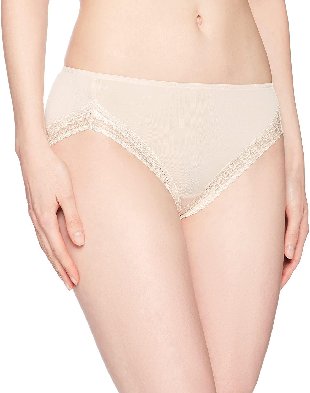 Paramour Women's Rubie Lace Trim Modal Hi Cut Panty