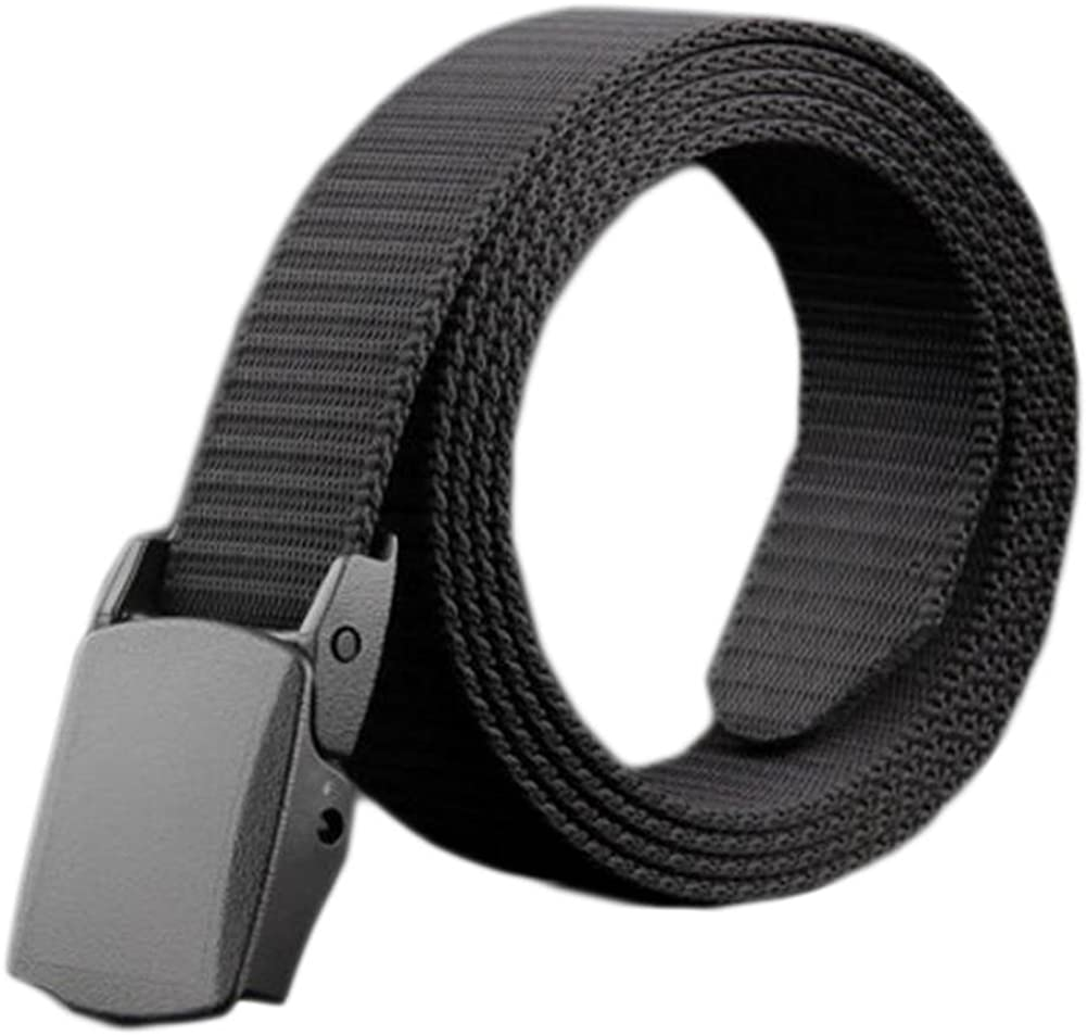 Mens Belt Canvas Braided Belts for Man with Automatic Rotated Buckle(A05)