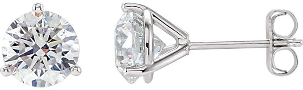 14k White Gold 2 ctw. Diamond Stud Earrings