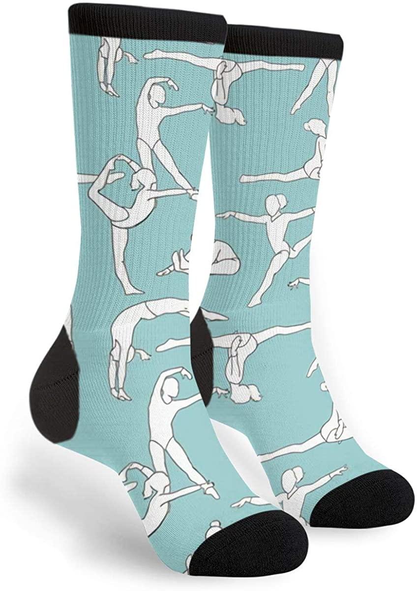 Gymnasts Women'S Men'S Crew Socks Casual Fun Dress Socks Long Cute Socks