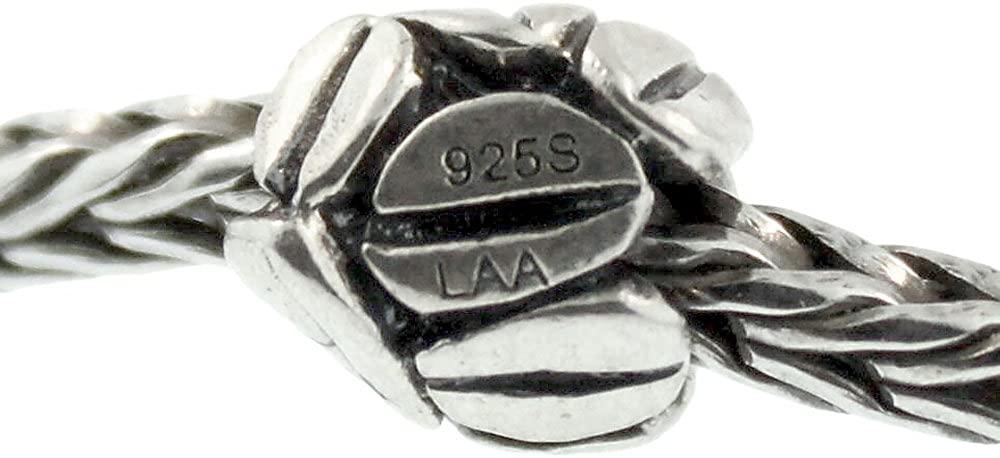 Authentic Trollbeads Sterling Silver 11154 Mocha, Silver