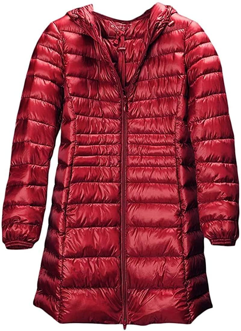 Xudcufyhu Women's Winter Warm Lightweight Packable Hooded Puffer Jacket