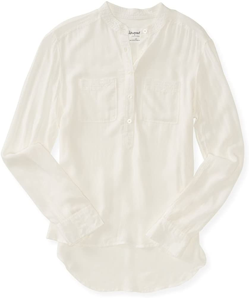 AEROPOSTALE Womens Semi-Sheer Henley Shirt