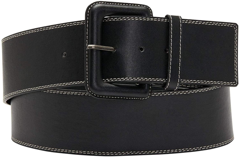 Roamans Women's Plus Size Topstitched Belt