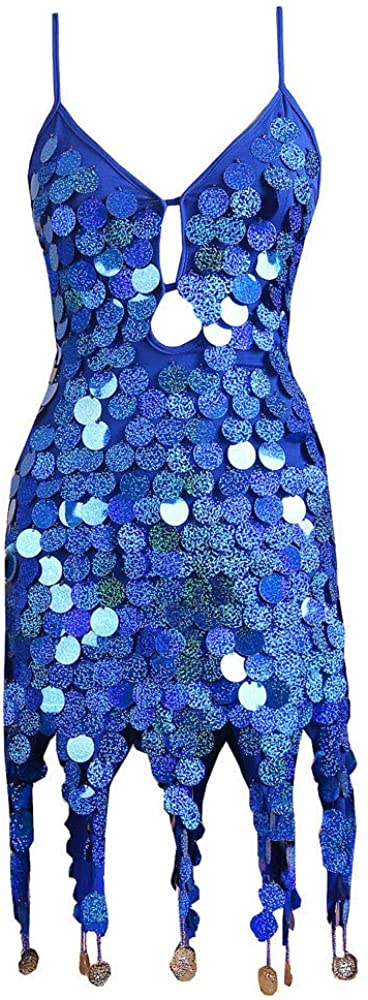 nightfall Women Sexy V-Neck Bodycon Dress Attractive Sparkly Sequin Cocktail Short Mini Dress Belongs to You