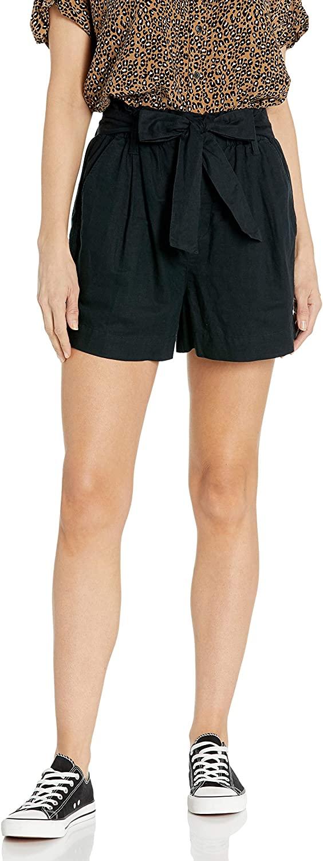 DHgate Brand - Goodthreads Women's Washed Linen Blend Paper Bag Waist Shorts
