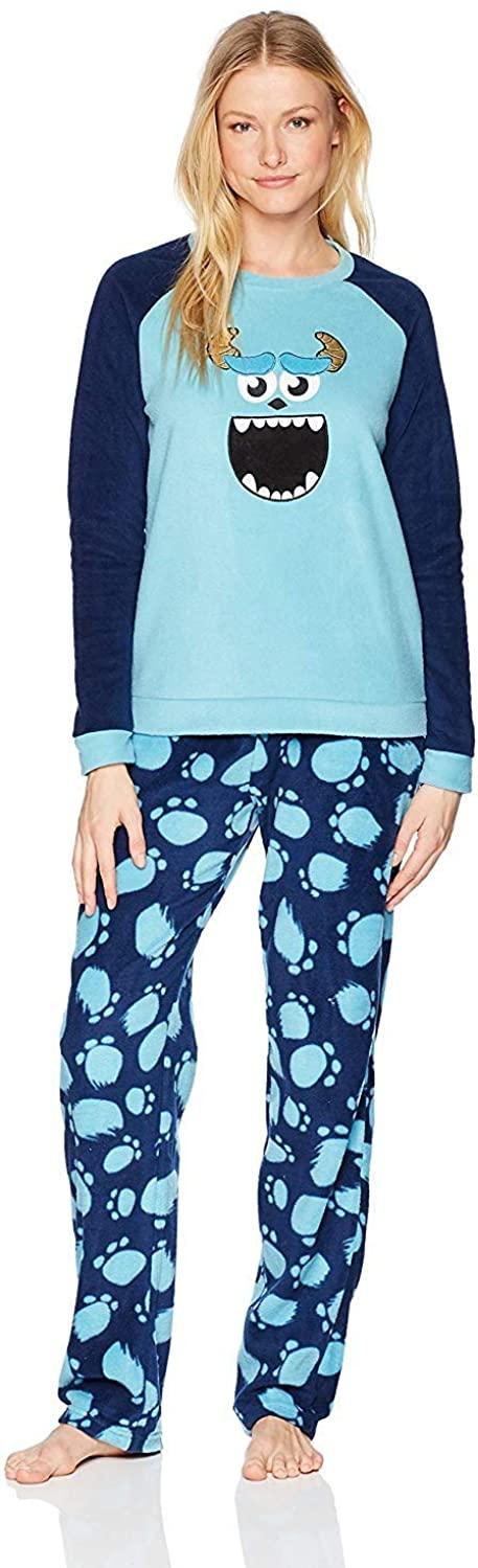 MJC Women's Disney Pixar Monsters Inc Sulley Fleece Pajamas