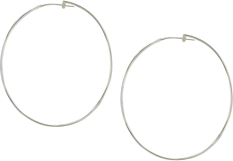 Sheila Fajl Lisa Featherweight Hoop Earrings in Polished Silver Plated