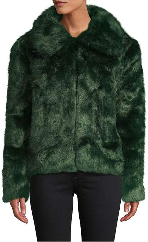 C&C California Faux Fur Emerald Jacket (Green) X-Small