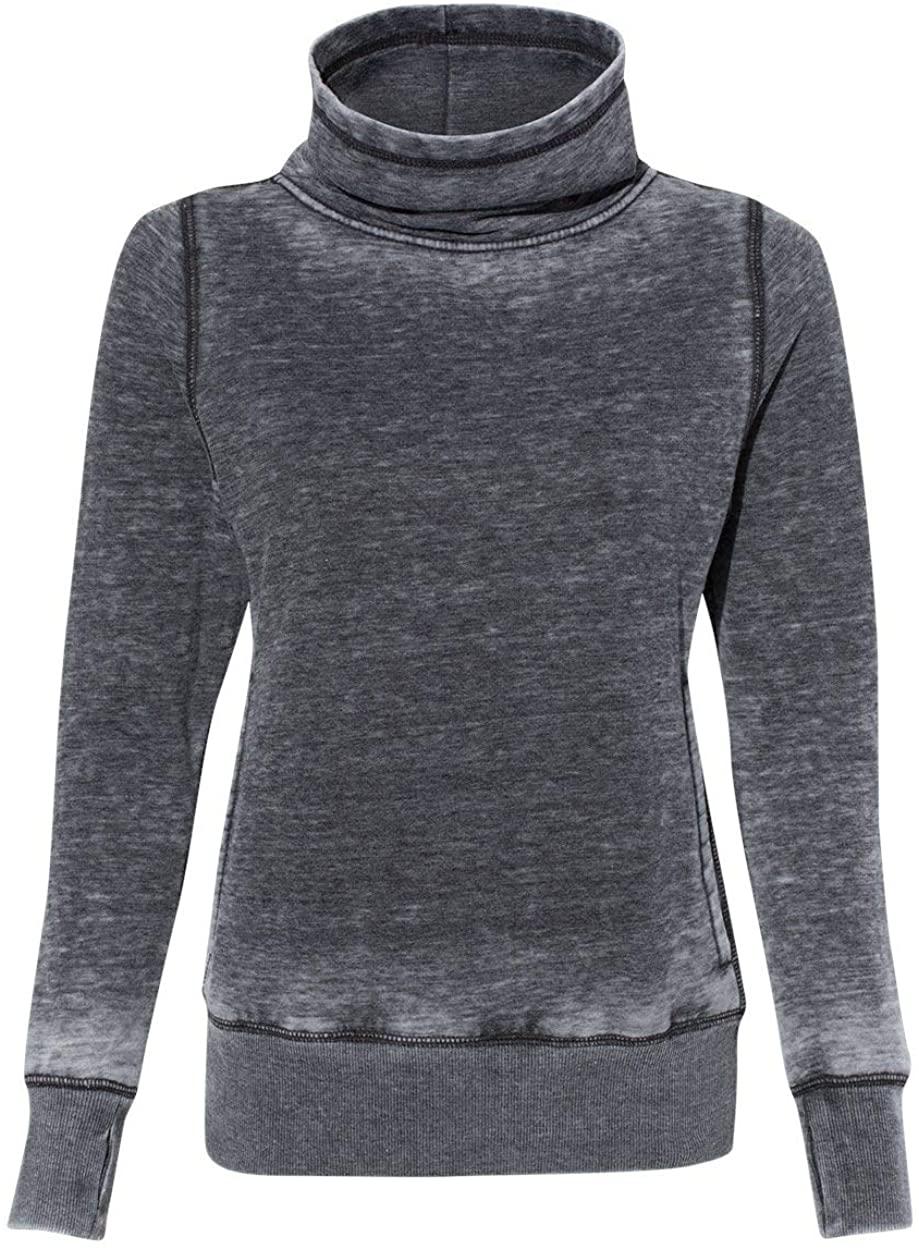 J. America Womens Zen Fleece Cowl Neck (JA8930)