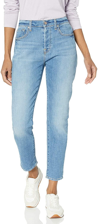 7 For All Mankind Women's Josefina High Rise Boyfriend Jeans