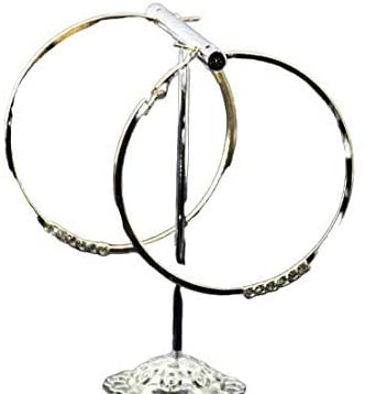 Janvi Enterprises Traditional Gold Round Bali Golden Plated Hoop Earrings for Women and Girls