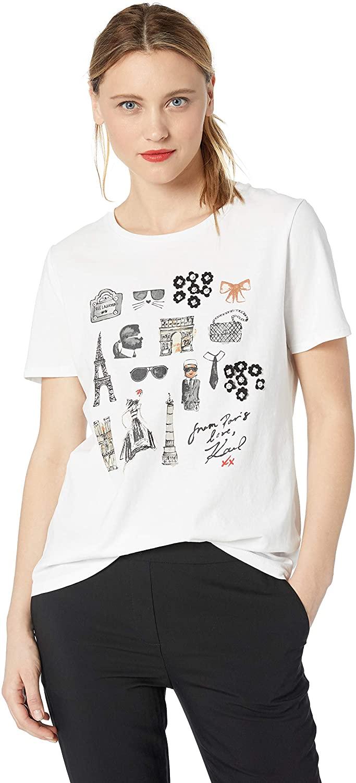 Karl Lagerfeld Paris Women's Anniversary Sketch Tee