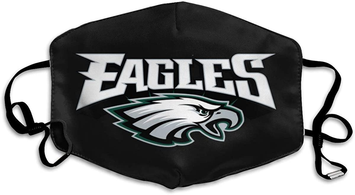 MATEKULI Unisex Reusable Nose Face Cover with Philadelphia Eagles Dust Mouth Cover with Adjustable Earloops