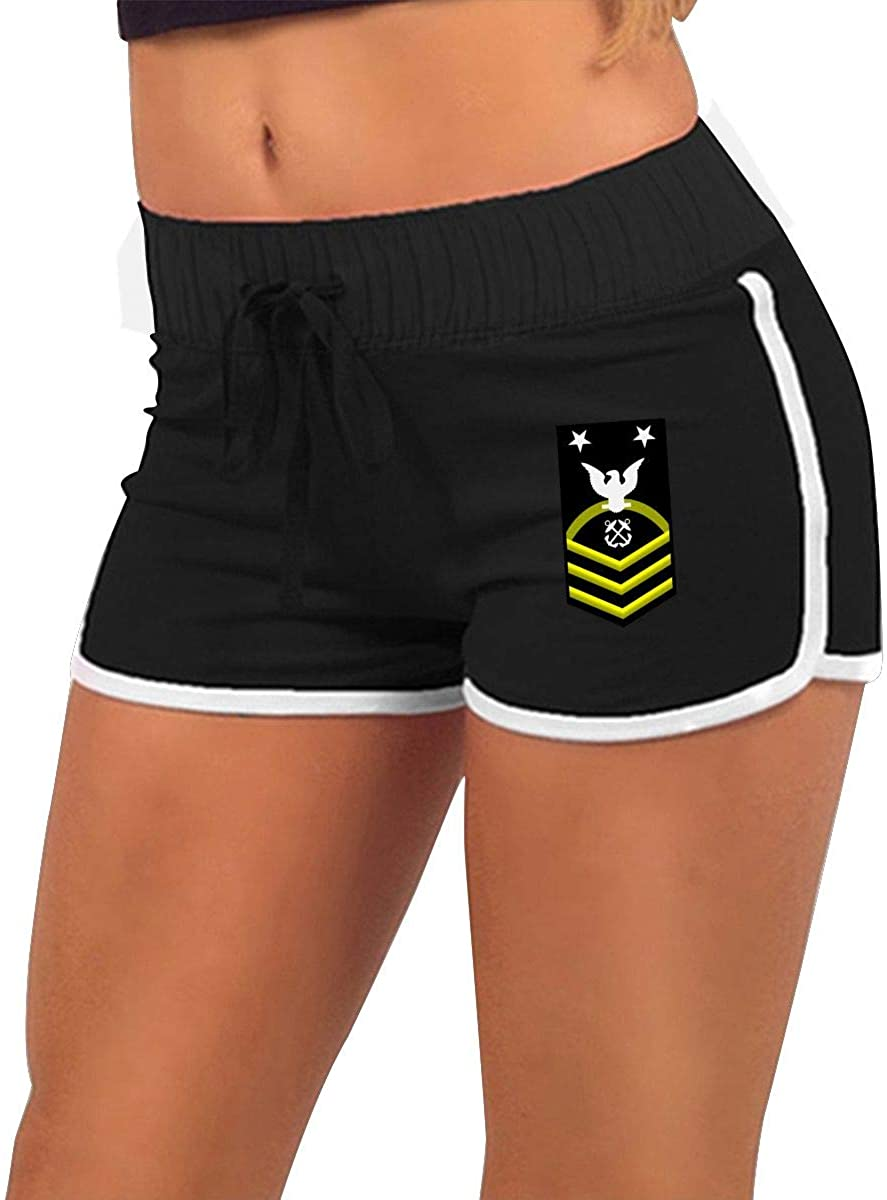 RNWV & PANT Navy Master Chief Petty Officer Women Running Yoga Gym Comfy Fitted Sexy Low Waist Shorts