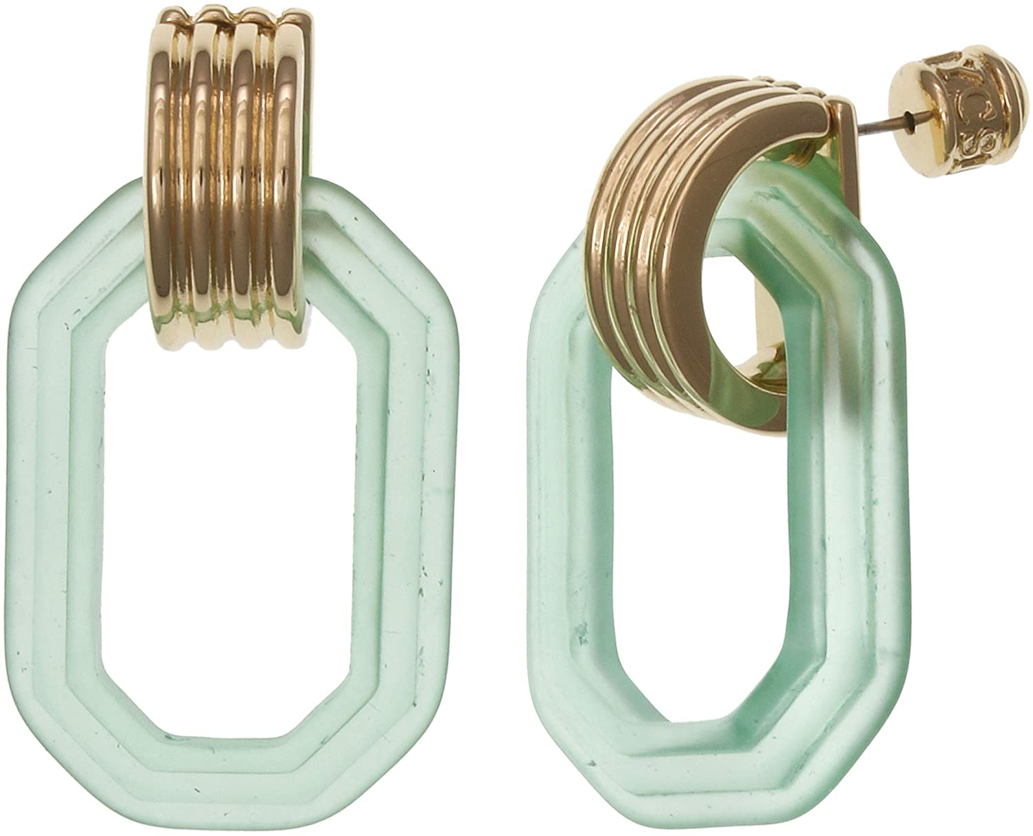Christian Siriano New York Lucite Link Square Drop Earring