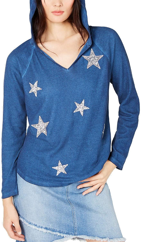 INC International Concepts Women's Star-Detail Hoodie