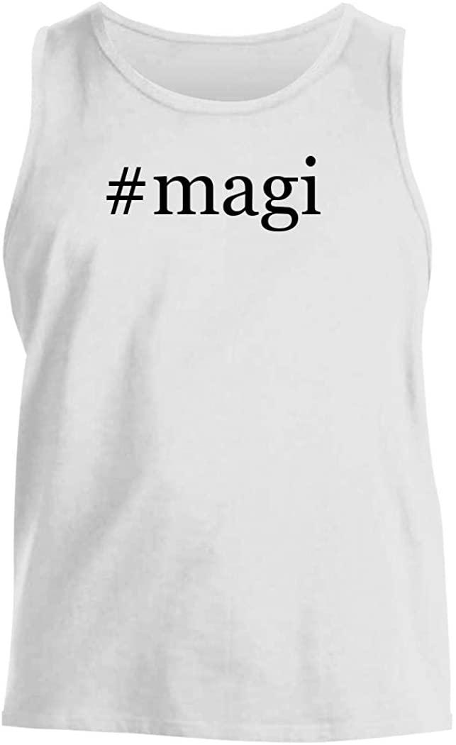 #magi - Men's Hashtag Comfortable Tank Top, White, XX-Large