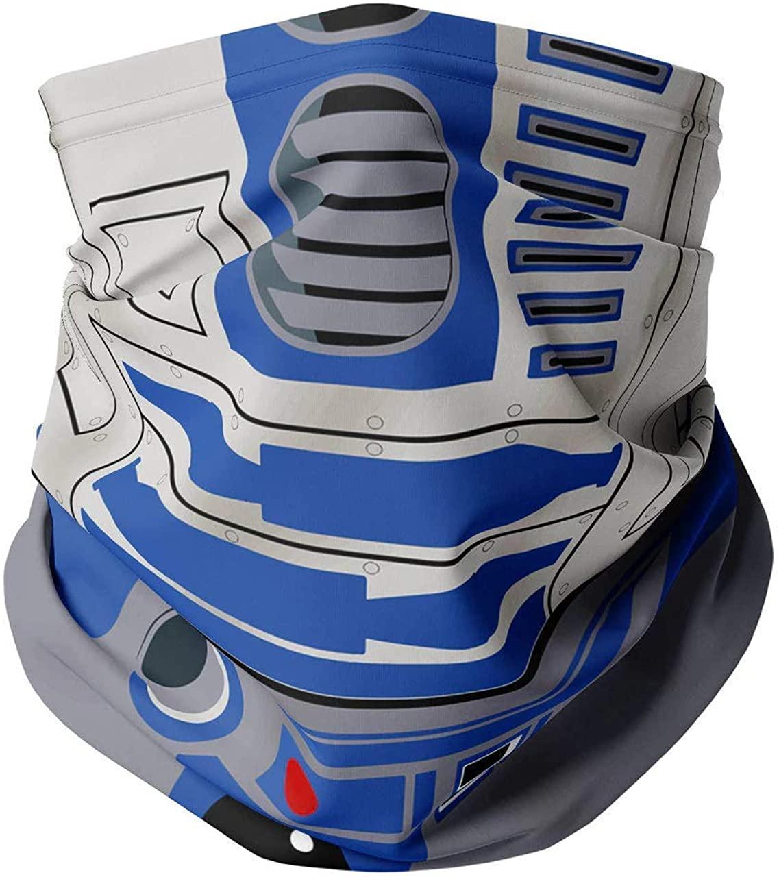Neck Gaiter Face Covering - Little Blue Droid