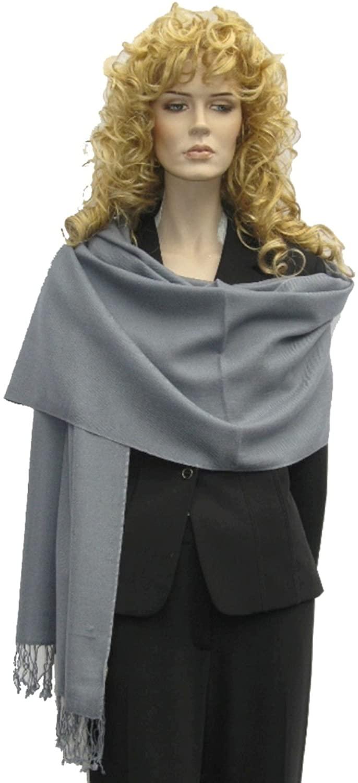 Cashmere Pashmina Group: Solid Pashmina Scarf, Shawl, Wrap & Stole(Regular size)