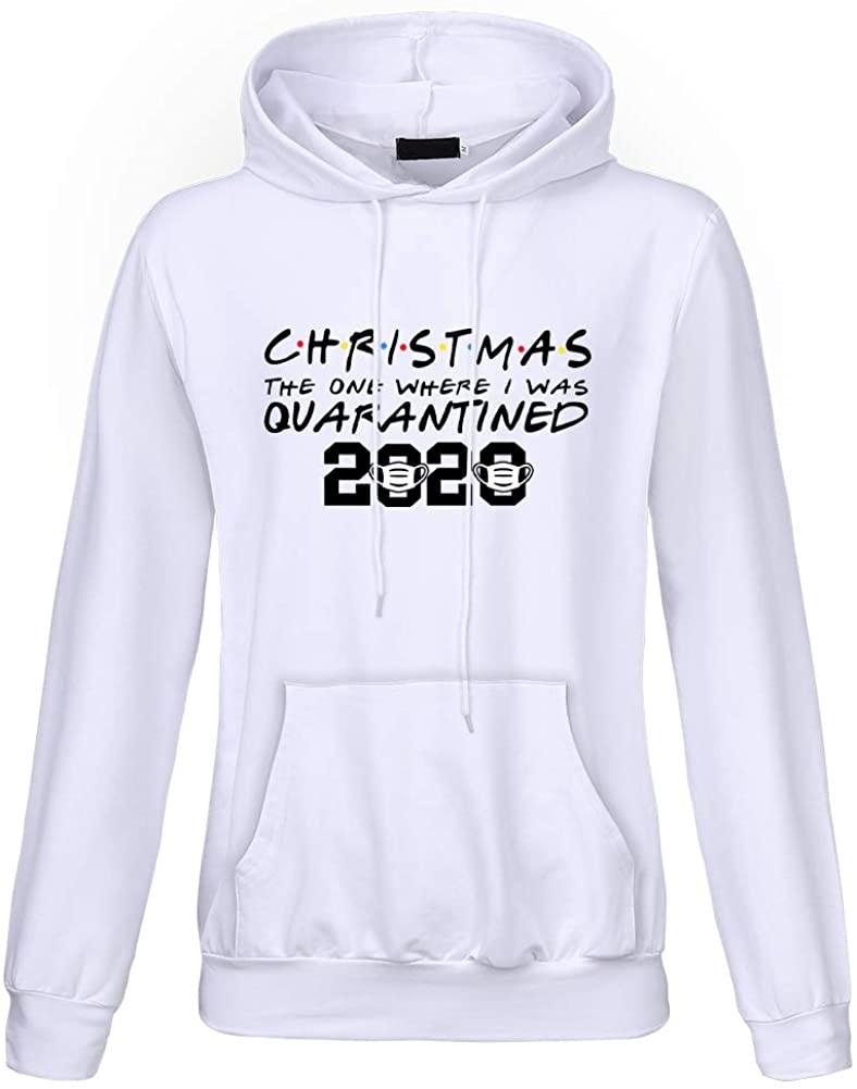 Fistyle Womens Christmas Hoodie 2020 Christmas Print Sweatshirt 2020 Quarantine Tops