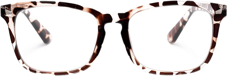 AZORB Non-Prescription Glasses for Women Men Clear Lens Square Frame Eyeglasses
