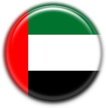 United Arab Emirates : National Flag, Pinback Button Badge 1.50 Inch (38mm)