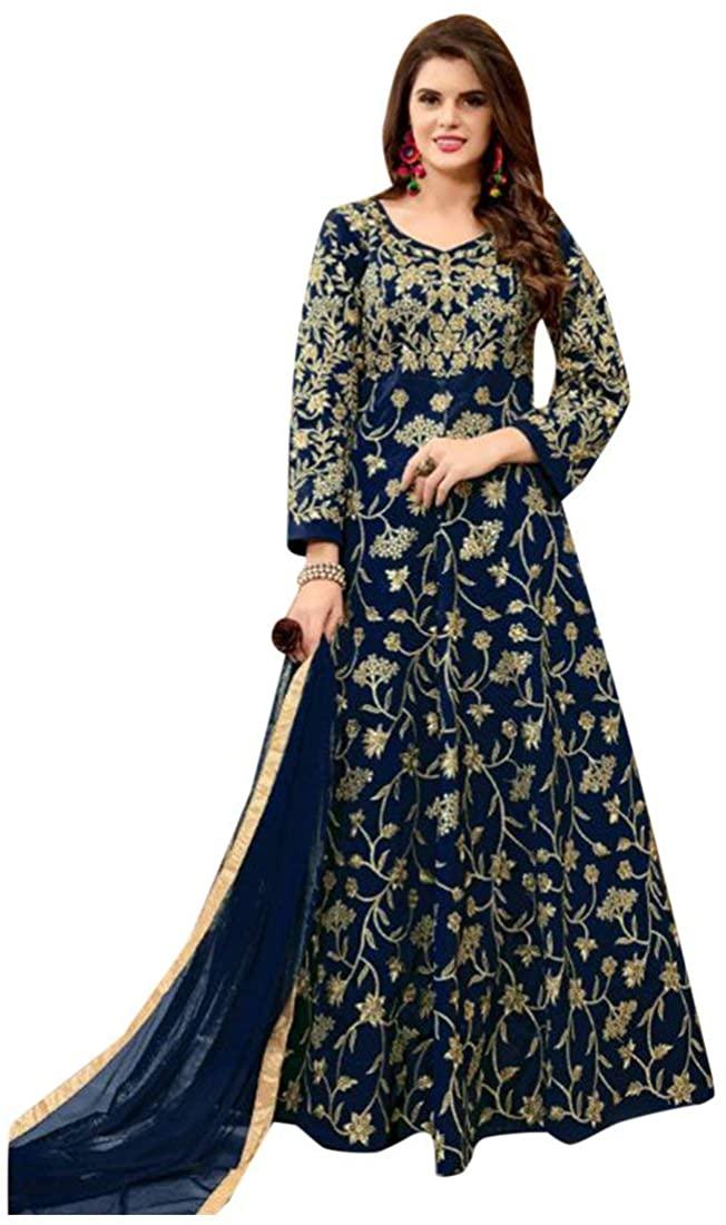 Designer Bollywood Collection Blue Anarkali Salwar Suit Custom to Measure festive party wear women gown Ceremony Festival Muslim 2678 3