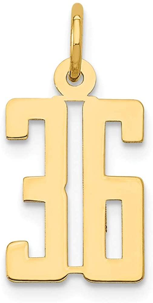 Beautiful Yellow gold 14K 14k Small Polished Elongated 36 Charm
