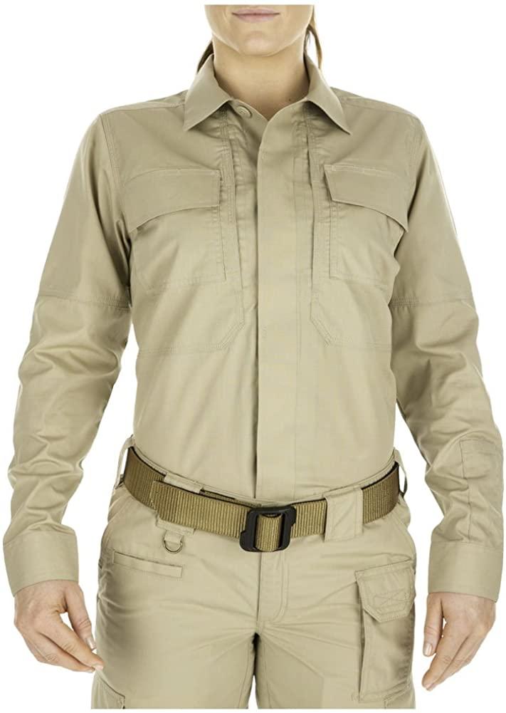 5.11 Tactical Women's Taclite TDU Uniform Work Long Sleeve Button-Up Shirt, Ripstop Fabric, Style 62016