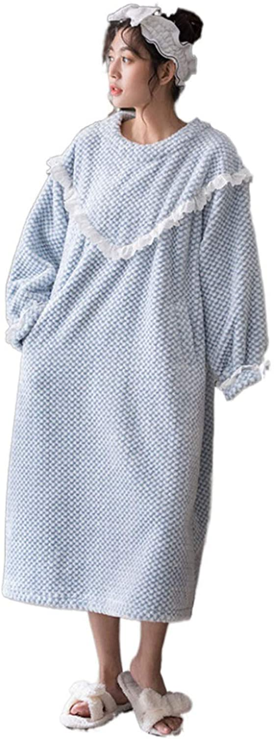 Women's Bathrobe,Lighweight Loose Dressing Gowns Sleepwear Full Length Warm Nightdress